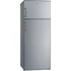 HAIER HTM-546S - Réfrigérateur double porte-210 L (170L + 40 L)-Froid statique-A+-L 55 x H 141,5 cm-Silver