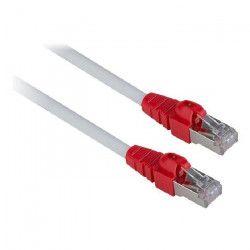 LINDY Câble réseau cat.6 S/FTP Easy Patch - Cuivre - LSOH - 250MHz - 10m - Gris