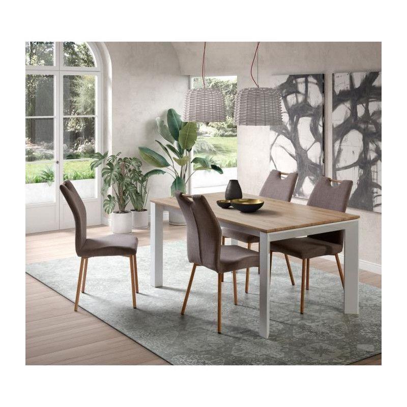 b00dfe80114745 ... VISIT Table a manger extensible 6 a 10 personnes - Contemporain -  Placage chene sonoma + ...