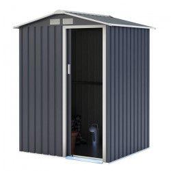 Abri de jardin en métal - 1,91 m² -1 porte coulissante - Gris anthracite