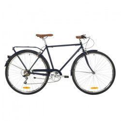 REID Vélo ville vintage Gents Roadster 7 vitesses - Homme - Bleu et noir - Taille MEDIUM