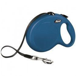 KERBL Laisse-sangle Flexi NewClassic L - Longueur : 8 m - Poids max : 50 kg - Bleu - Pour chien
