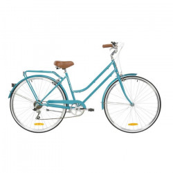 REID CYCLES Vélo vintage femme Lady Classic - 7 vitesses - Taille LARGE - Bleu eau