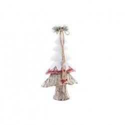 Sapin de Noël artificiel en osier et polyester 24x12x48 cm