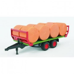 BRUDER - 2220 - Remorque de Transport De Paille + Bottes