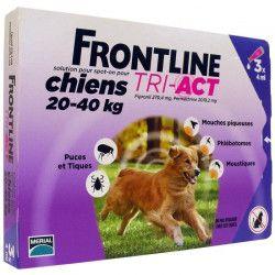 FRONTLINE 3 pipettes Tri-Act - Pour chien de 20 a 40 kg