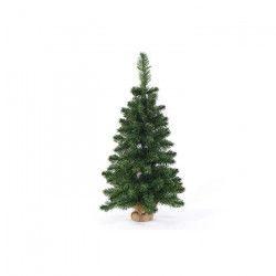 Sapin de Noël artificiel - H 90 cm - 96 branches - Vert - Avec pied