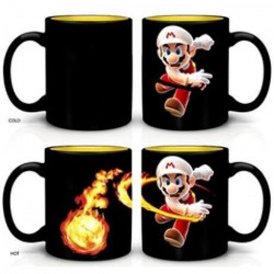 Mug thermosensible Nintendo : Mario Boule de feu - 60 cl