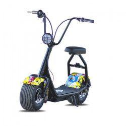 MOOVWAY Scooter électrique Coco Junior - 500W - 48V - 12Ah - Multigraffiti