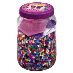 HAMA Midi Pot Violet 7000 Perles + 2 Plaques Couleurs