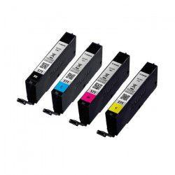 Canon Pack Cartouches INK CLI-571 (Cyan, Magenta, Jaune, Noir Photo) Sans Blister sécurisé