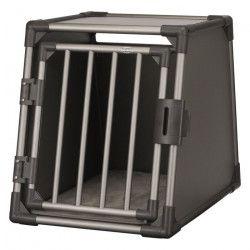 TRIXIE Box de transport - Aluminium - M : 55 x 61 x 74 cm - Gris graphite - Pour chien