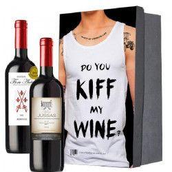 Coffret Vin KIFF MY WINE + 2 bouteilles de vin