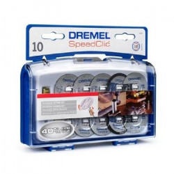 DREMEL 10 disques a tronçonner+ adapt EZ Speedclic