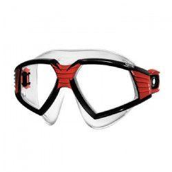 SEAC Lunettes et masque de natation Sonic - Silicone - Adulte - Noir et rouge