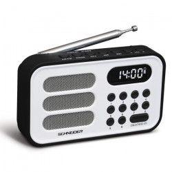 SCHNEIDER SC150ACLWHT Radio Portable Handy Mini - Blanc