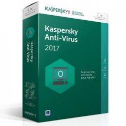 Kaspersky Antivirus 2017 1 Poste / 1 An