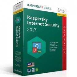 Kaspersky Internet Security 2017 1 Poste / 1 An Mise a jour