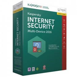 Kaspersky Internet Security 2016 Renouvellement (3 Postes / 1 An Multi Device)