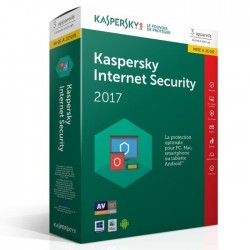 Kaspersky Internet Security 2017 3 Postes / 1 An Mise a jour