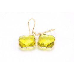 CAPUCINE Boucles d`oreilles doré Quartz citrine