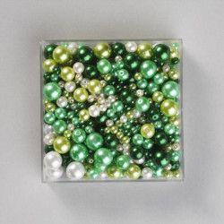 PANDURO Perles en verre vert - 430 pieces