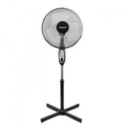 TECHWOOD 40 watts Ventilateur sur pied avec Telecommande 40cm - 3 vitesses - Réglage : - Hauteur - Oscillation -