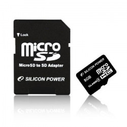 SILICON POWER Carte mémoire microSD SDHC Class 10 - 32 Go