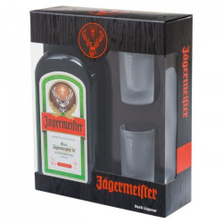 Coffret Jägermeister 70cl 2 verres shooters