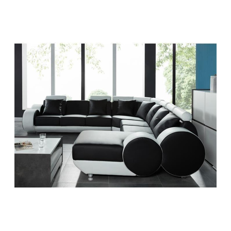 dorian canap d angle panoramique relaxation 10 places. Black Bedroom Furniture Sets. Home Design Ideas