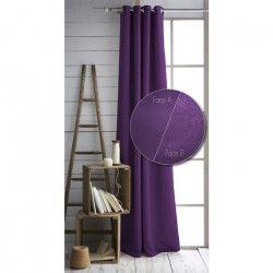 TODAY Lot de 2 rideaux isolants thermiques a oeillets - 100% polyester - 140 x 240 cm - Doublure polaire - Violet