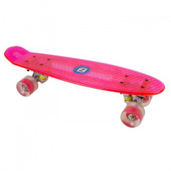 FUNBEE - Mini cruiser plastique led fuchsia