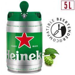 HEINEKEN Fût de biere Blonde - Compatible Beertender - 5 L