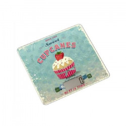 TERRAILLON Balance culinaire T1040 CUPCAKE - 3 kg - LCD - Tare - Plateau verre - Slim - Décor