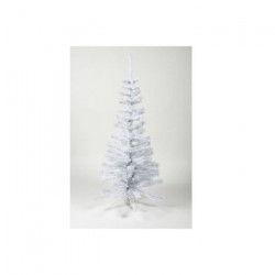 Sapin de Noël artificiel - H 150 cm - 200 branches - Blanc colorado - Avec pied plastique