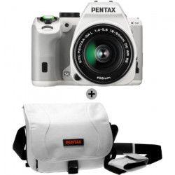 Appareil Photo Reflex K-S2 18-50mm Blanc + Sacoche