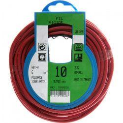 PROFIPLAST Couronne de câble 10 m HO7V-R 6 mm2 Rouge