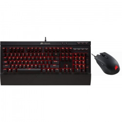 CORSAIR Pack Clavier Gamer Mécanique K68 (CH-9102020-FR) + Souris Gamer Optique HARPOON RGB 6000 DPI