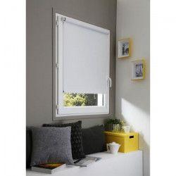 DOMDECO Store enrouleur occultant sans perçage - Blanc - 42x170 cm