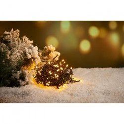 Guirlande extérieure - 240 LED blanc chaud - 16 m - Fil vert