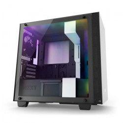 NZXT Boîtier PC Smart H400i - Micro-ATX - Smart Device - Panneau en verre trempé - Blanc