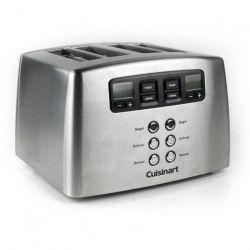 CUISINART Toaster motorisé CPT440E - 4 Tranches - 1650 W - Acier brossé