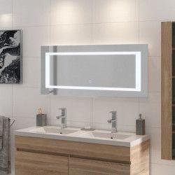 LOUNGITUDE Miroir rétro-éclairé - Cadre métal - L 120 cm - LED2
