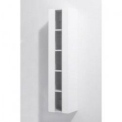 LOUNGITUDE Colonne de salle de bain ALBAN L 25 cm - Blanc brillant