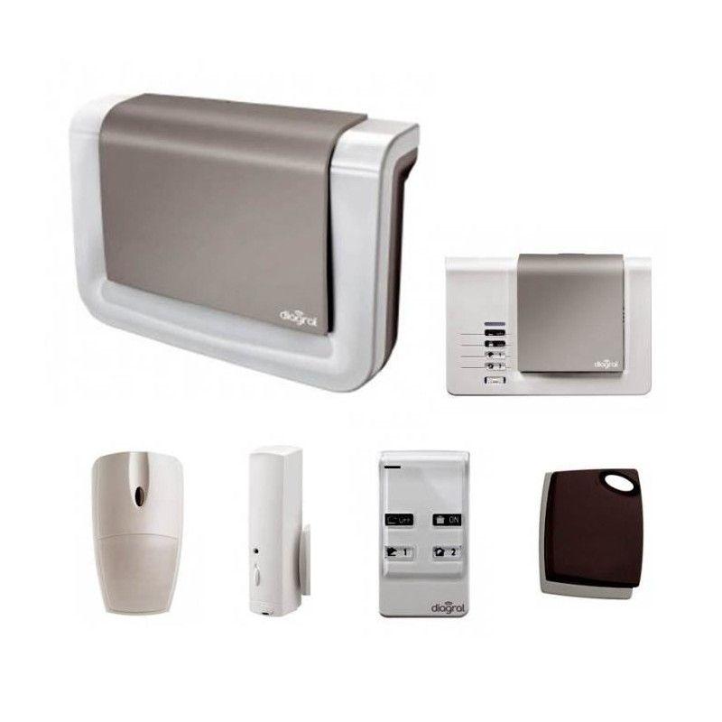 diagral pack alarme maison sans fil animaux diag02asf. Black Bedroom Furniture Sets. Home Design Ideas