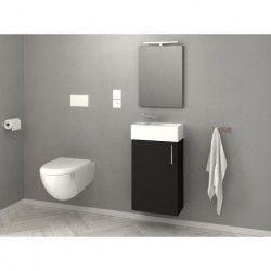 KIM Meuble lave-main L 40 cm simple vasque incluse - Noir mat