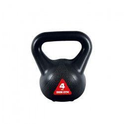 IRON GYM Accessoire de Musculation Kettlebell Crossfit 4Kg Large Poigné Grip