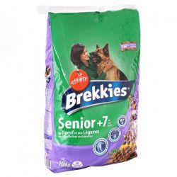 BREKKIES Croquettes au boeuf et aux légumes - 10kg (x1) - Pour chien senior