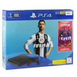 Pack PS4 500 Go Noire + FIFA 19
