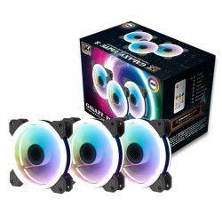 XIGMATEK Ventilateur 12cm pour Boîtier Pc - CY120 RGB (pack de 3) - Pack de 3 x 120mm RGB